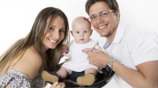 Pai Lucas Brenner , Mãe Rafaela Brenner e filha Laura Brenner